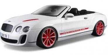 Bentley Continental Supersports Convertible ISR, white (2012) - 1:18 - Bburago