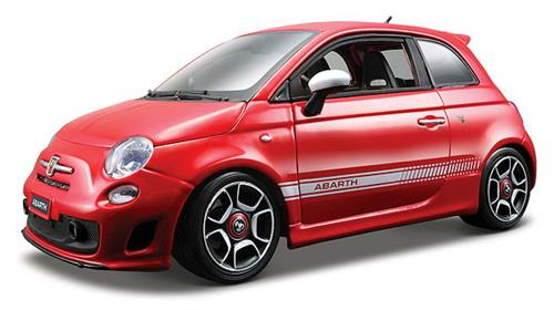 Abarth 500 (2007), red - 1:18 - Bburago