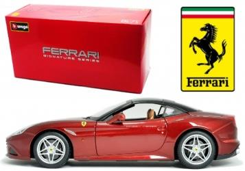 Ferrari California T, lukket top, rød metallic - Signature Series (High Quality) - 1:18 - Bburago