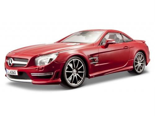 Mercedes-Benz SL 500 Hardtop, dark red metallic - 1:24 - Bburago