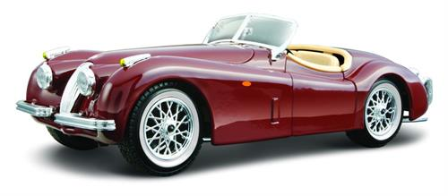 Jaguar XK120 Roadster, red burgundy - 1:24 - Bburago