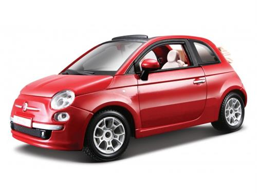 Fiat New 500C Cabrio (2010), red - 1:24 - Bburago