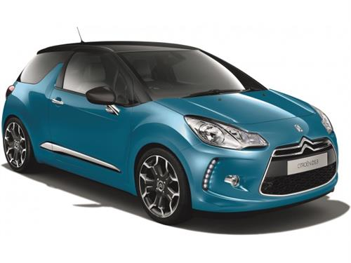 Citroen DS3, blå metallic - 1:24 - Bburago