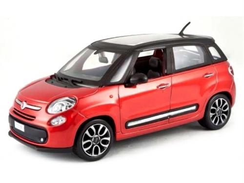 Fiat 500L (2012), red metallic/black - 1:24 - Bburago