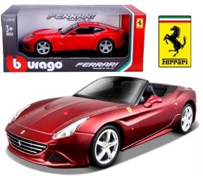 Ferrari California T, åben top, rød metallic - 1:24 - Bburago