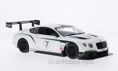 Bentley GT3 #7, white metallic - 1:24 - Bburago