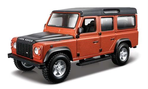 Land Rover Defender 110, orange metallic - 1:32 - Bburago