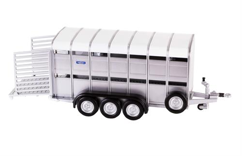 Ifor Williams TA510T tri-axle livestock trailer  - 1:32 - Britains