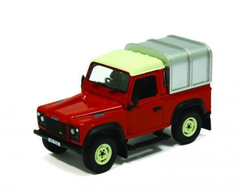 Land Rover Defender 90 w/canopy, red - 1:32 - Britains