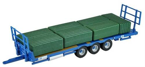Kane Bale Trailer play set (trailer inkl. 7 grønne big baller) - 1:32 - Britains
