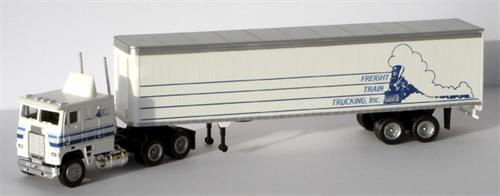 "Freightliner, 45"" trailer ""Freight Train Trucking, Inc."" - H0 - Con-Cor"