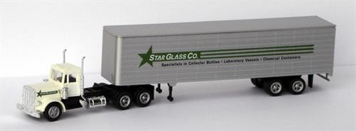 "Kenworth, 45"" trailer ""Star Glass Co."" - H0 - Con-Cor"