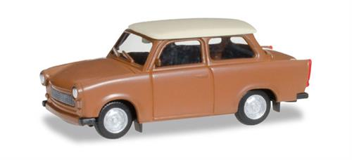 Trabant 601 S, brown - 1:87 / H0 - Herpa
