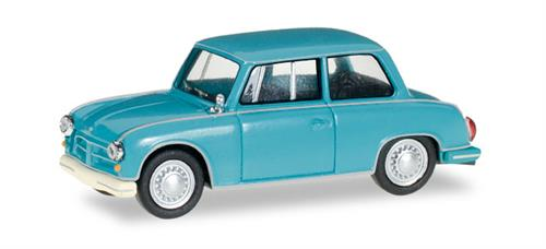 AWZ P 70 Limousine, turquoise blue - 1:87 / H0 - Herpa