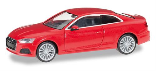 Audi A5 coupé, misano red perleffect - 1:87 / H0 - Herpa
