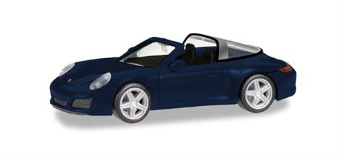 Porsche 911 Targa 4, night blue metallic -  1:87 / H0 - Herpa