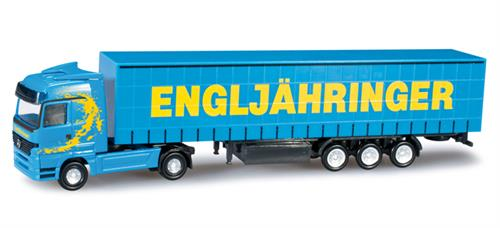 "Mercedes-Benz Actros LH curtain canvas semitrailer ""Engljähringer"" (A) - 1:160 / N - Herpa"