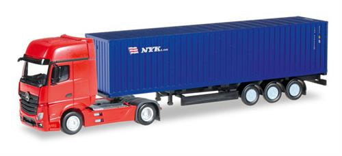"Mercedes-Benz Actros gigaspace container semitrailer ""NYK"" - 1:160 / N - Herpa"