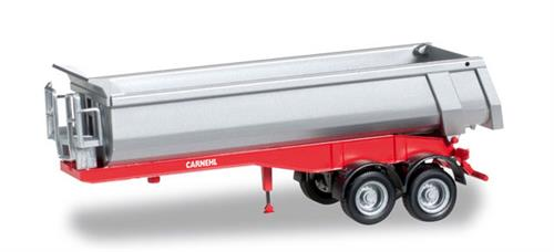 Carnehl dump trailer 2-axle, red - 1:87 / H0 - Herpa