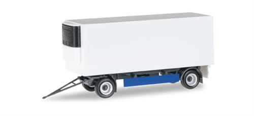 Refrigerated-trailer 2-achs, blue/white - 1:87 / H0 - Herpa