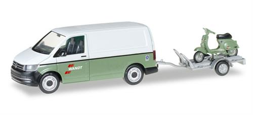 "VW T6  with trailer and Vespa ""Spedition Wandt"" - 1:87 / H0 - Herpa"
