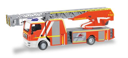 "MAN TGM Metz turnable ladder 32 XS ""Feuerwehr Göppingen"" - 1:87 / H0 - Herpa"