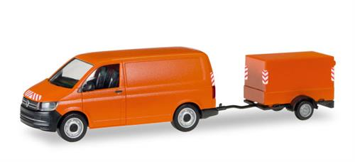 VW T6 with canvas-trailer - 1:87 / H0 - Herpa