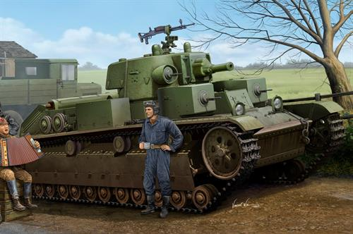 Soviet T-28 Medium Tank (Cone Turret) - 1:35 - HobbyBoss