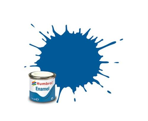 (14) - French Blue Gloss, Enamel Paint - 14 ml - Humbrol