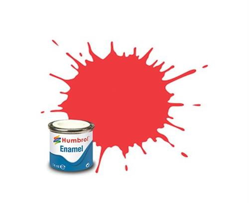 (19) - Bright Red Gloss, Enamel Paint - 14 ml - Humbrol
