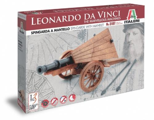 Leonardo da Vinci - Spingarda a mantello - Spingarde with mantlet