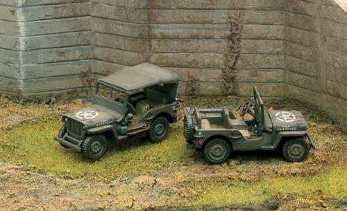 Willys Jeep 1/4 ton 4X4 (fast assembly kits) - 2 stk. pr. pk. - 1:72 - Italeri