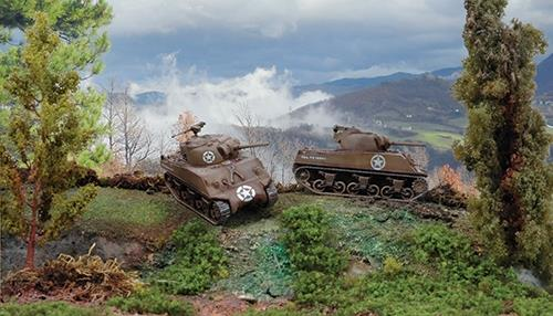 M4A3 75 mm sherman (fast assembly kits) - 2 stk. pr. pk. - 1:72 - Italeri