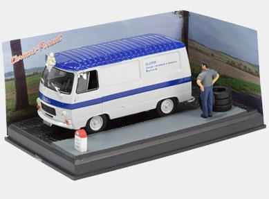 TYRE DELIVERY - Peugeot J7, whilte/blue - 1:43 - Altaya