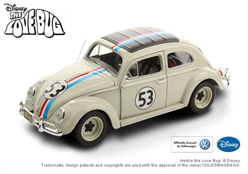 "1962 Volkswagen Beetle ""Herbie - The Love Bug"" - 1:18 - Mattel Elite"