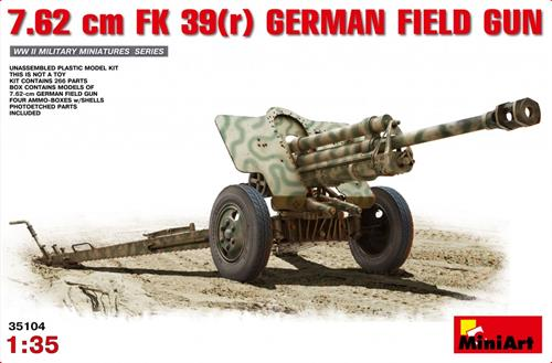 7,62 cm FK 39(r) German Field Gun - 1:35 - MiniArt