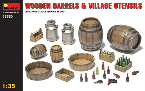 Wooden Barrels & Village Utensils - 1:35 - MiniArt