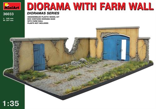 Diorama w/Farm Wall - 1:35 - MiniArt