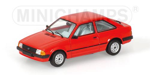 Ford Escort III (1981), red - 1:43 - Minichamps