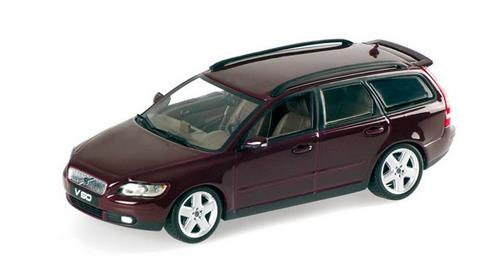 Volvo V50 (2003), dark red metallic - 1:43 - Minichamps