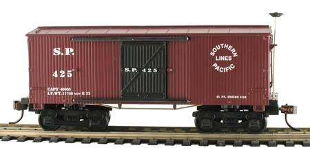 Wooden Vintage S.P. 1860 Box Car, H0 DC