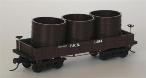 Wooden Vintage P.R.R. 1860 Water Car, H0 DC