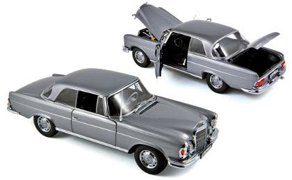Mercedes-Benz 280 SE Coupé (1969), grey - 1:18 - Norev