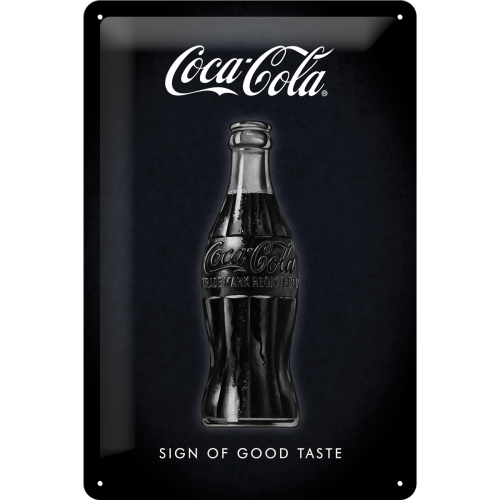 "Blikskilt 20x30 cm ""Coca-Cola - Sign Of Good Taste"" - Nostalgic Art"
