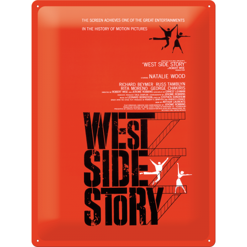 "Blikskilt 30x40 cm ""Movie-art - West Side Story"" - Nostalgic Art"