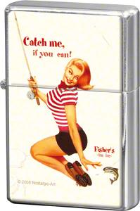 "Storm lighter ""Pin up - Catch me, if you can"" - Nostalgic Art"