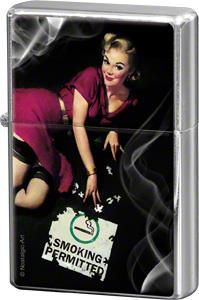 "Storm lighter ""Pin up - Smoking Permitted"" - Nostalgic Art"