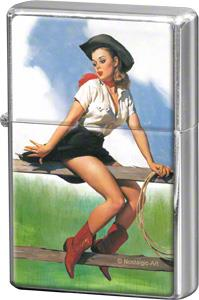 "Storm lighter ""Pin up - Cowgirl"" - Nostalgic Art"