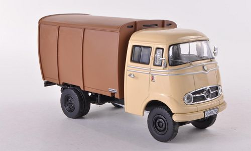 "Mercedes-Benz L319 dyretransport, beige/brun - Lim. 500 ""Unique Edition"" - 1:43 - Premium ClassiXXs"