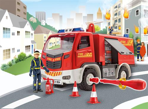 Fire Truck with figure - 1:20 - Junior Kit - Revell
